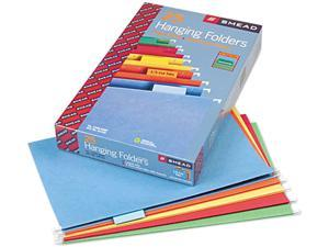 Smead 64159 Hanging File Folders, 1/5 Tab, 11 Point Stock, Legal, Assorted Colors, 25/Box