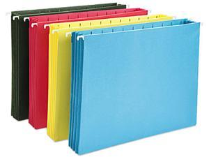 Smead 64291 Hanging Pocket File Folders with Full Height Gusset, Letter, Assorted, 4/Pack