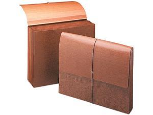 Smead 72373 5 1/4 Inch Expansion Partition Wallets, Cord, 6-Pocket, Redrope, Letter, 10/Box