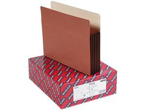 "Smead 73390 TUFF® Pocket File Pocket, Straight-Cut Tab, 5-1/4"" Expansion, Letter, Redrope, 10/Box"