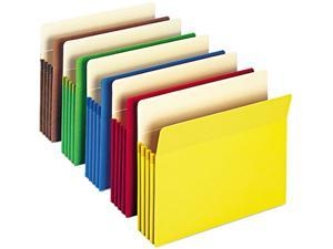 Smead 73890 3 1/2 Inch Expansion Colored File Pocket, Straight Tab, Letter, Assorted, 25/Box