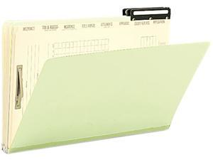 Smead 78208 Pressboard Mortgage File Folder with Dividers & Metal Tab, Legal, Green, 10/Box