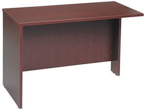 BUSH FURNITURE WC36724 Series C Return Bridge, 47-3/4w x 23-3/8d x 29-7/8h, Mahogany/Mahogany