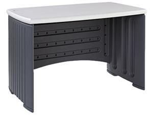 """Iceberg SnapEase 46"""" Computer Desk, Resin, 46w x 28d, Charcoal/Silver"""