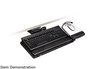 """3M AKT150LE Easy Adjust Keyboard Tray, 26.5"""" Width x 10.5"""" Depth, Black"""
