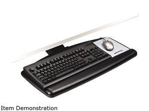 "3M MMMAKT90LE Easy Adjust Keyboard Tray, Standard Platform, 23"" Track, Black"