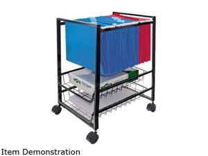 Advantus 34075 Mobile File Cart w/Sliding Baskets, 15w x 12-7/8d x 20-7/8h, Black