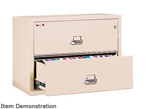 FireKing 23822CPA 2-Draw Lateral File, 37-1/2w x 22-1/8d, UL Listed 350°, Ltr/Legal, Parchment