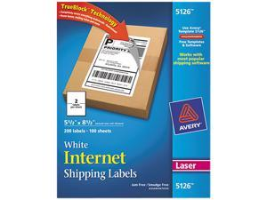 Shipping Labels with Block Technology Laser 5 1/2 x 8 1/2 White 200/Box