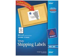 Avery 8164 Shipping Labels with TrueBlock Technology, 3-1/3 x 4, White, 150/Pack