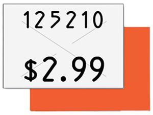 Garvey 090949 Two-Line Pricemarker Labels, 5/8 x 13/16, White, 1000/Roll, 3 Rolls/Box