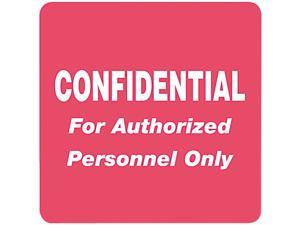 Tabbies 40570 Medical Labels for Confidential, 2 x 2, Red, 500/Roll