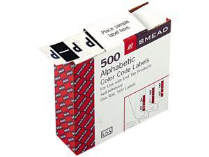 Smead 67086 A-Z Color-Coded Bar-Style End Tab Labels, Letter P, Violet, 500/Roll