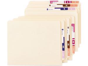 Smead 67170 Alpha-Z Color-Coded Second Letter Labels Starter Set, A-Z, 2200/Box