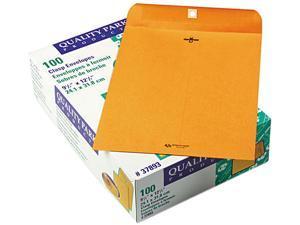 Quality Park 37893 Clasp Envelope, 9 1/2 x 12 1/2, 28lb, Light Brown, 100/Box