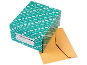 Quality Park 54300 Open Side Booklet Envelope, Traditional, 12 x 10, Light Brown, 100/Box