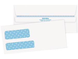 Quality Park 24529 - Double Window Tinted Redi-Seal Check Envelope, #9, White, 500/Box