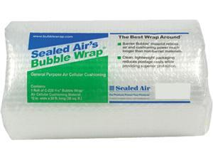 """Sealed Air 19338 Bubble Wrap Cushioning Material, 3/16"""" Thick, 12"""" x 30ft"""