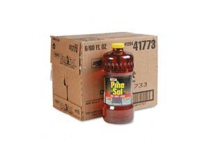 Clorox 41773CT Pine-Sol Cleaner Disinfectant Deodorizer, 60 oz. Bottles, 6/Carton