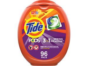 Tide 80163EA Detergent Pods, Spring Meadow, 96/Tub