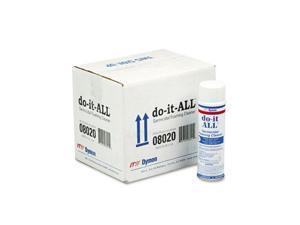 Dymon 08020CT do-it-ALL Germicidal Foaming Cleaner, 18 oz Aerosol Can, 12/Carton