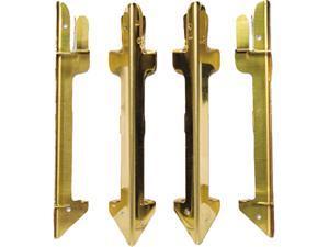 Carver 07256 Hardwood Stackable Desk Tray, Four-Posts, Brass