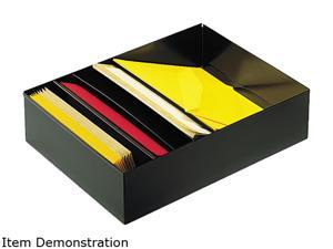 "STEELMASTER by MMF Industries 271R2S15BK Three-Compartment Desk Drawer Stationery Holder, Steel, 15"" Dept, Black"
