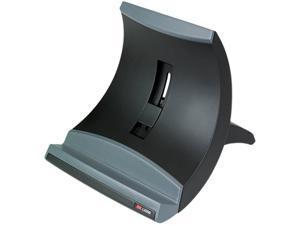 3M MMMLX550 Vertical Notebook Computer Riser, Cable Management, 9 x 12 x 6 1/2 - 9 1/2, Black