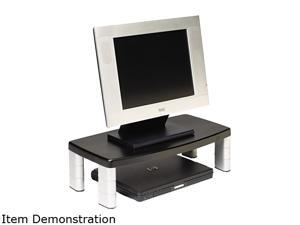 3M MMMMS90B Extra-Wide Adjustable Monitor Stand, 20 x 12 x 1 to 5 7/8, Black
