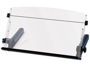 3M DH640 In-Line Freestanding Copyholder, Plastic, 300 Sheet Capacity, Black/Clear