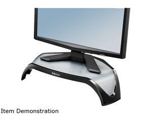Fellowes Smart Suites Corner Monitor Riser, 3 7/8 to 5 1/8 x 18 1/2 x 12 1/2, Black