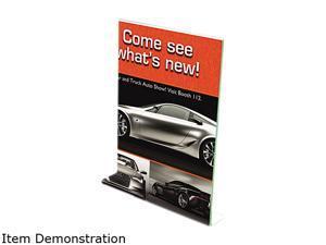 deflect-o 5991790 Superior Image Premium Green Edge Sign Holder, Acrylic, 8-1/2 x 11, Clear