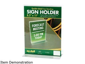 Nu-Dell 38020 Acrylic Sign Holder, 8-1/2 x 11, Clear