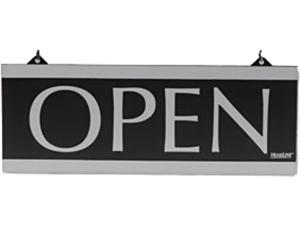 Headline Sign 4246 Century Series Reversible Open/Closed Sign, w/Suction Mount, 13 x 5, Black