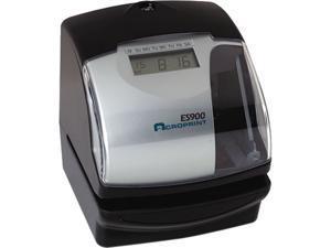 Acroprint 010209000 ES900 Digital Automatic Payroll Recorder/Time Clock, Black