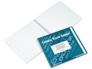 Ekonomik R EKOR SWirebound Check Register Accounting System, 8 3/4 x 10, 40-Page Book
