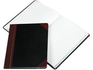 Boorum & Pease 21-150-Q Columnar Book with Quadrille Rule, Black, 150 Pages, 10 3/8 x 8 1/8