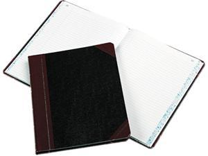 Boorum & Pease 21-150-R Columnar Book, Record Rule, Black Cover, 150 Pages, 10 3/8 x 8 1/8