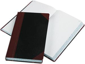 Boorum & Pease 9-500-R Record/Account Book, Record Rule, Black/Red, 500 Pages, 14 1/8 x 8 5/8