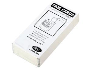 Lathem Time E7-100 Time Card for Lathem Model 7000E, Numbered 1-100, Two-Sided, 100/Pack