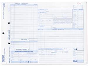 Rediform 4P489 Speediset Four-Part Auto Repair Form, 11 x 8 1/2, Four-Part Carbonless, 50 Forms