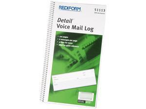 Rediform 51113 Voice Mail Wirebound Log Books, 5-5/8 x 10-5/8, 600 Sets/Book