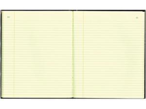 National Brand 56211 Texhide Accounting Book, Black/Burgundy, 150 Green Pages, 10 3/8 x 8 3/8