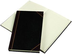 National Brand 57131 Texhide Series Account Book, Black/Burgundy, 300 Green Pages, 14 1/4 x 8 3/4