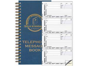 Rediform 50-079 Wirebound Message Book, 2-3/4 x 5, Two-Part Carbonless, 600 Sets/Book