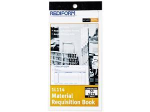 Rediform 1L114 Material Requisition Book, 7 7/8 x 4 1/4, Two-Part Carbonless, 50-Set Book