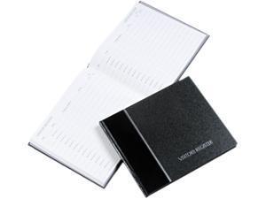 National Brand 57-802 Visitor Register Book, Black Hardcover, 128 Pages, 8 1/2 x 9 7/8