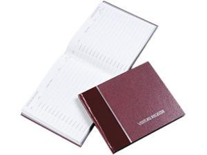 National Brand 57-803 Visitor Register Book, Burgundy Hardcover, 128 Pages, 8 1/2 x 9 7/8
