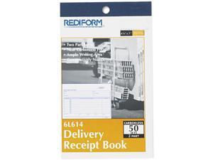 Rediform 6L614 Delivery Receipt Book, 6 3/8 x 4 1/4, Two-Part Carbonless, 50 Sets / book