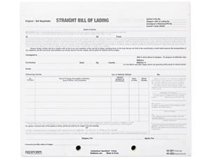 Rediform 44302 Snap-A-Way Bill Of Lading Short Form, 7 x 8 1/2, Four-Part Carbonless, 250 Forms